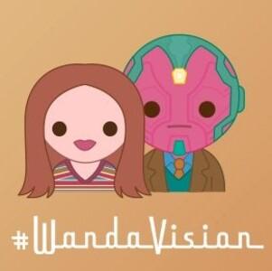 Wandavision Emojis wanda y vision
