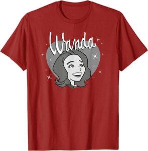 Camiseta Manga Corta Marvel Wandavision Corazon Retro 60s Wanda