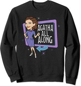 Sudadera Marvel Wandavision TV Agnes Agatha All Alone Retro Color