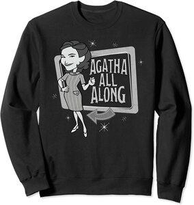 Sudadera Marvel Wandavision TV Agnes Agatha All Alone Retro