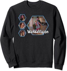 Sudadera Marvel Wandavision TV Portada 70s Hexagonos