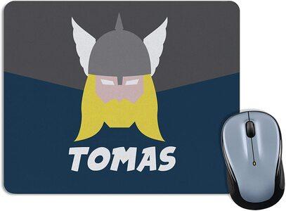 Alfombrilla para Ratón personalizable. Elige Heroe y tu nombre Thor