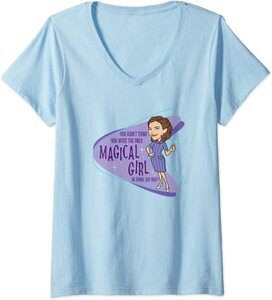 Camiseta Cuello V Marvel Wandavision TV Agatha Magical Girl