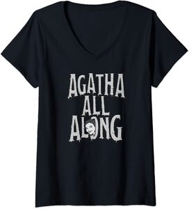 Camiseta Cuello V Marvel Wandavision TV Agnes Agatha All Alone
