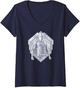 Camiseta Cuello V Marvel Wandavision TV La Vision Blanca