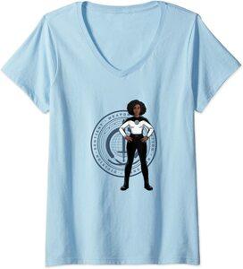 Camiseta Cuello V Marvel Wandavision TV Monica Rambeau Cuerpo SWORD