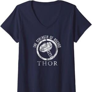 Camiseta Cuello V Thor Mazo La Fuerza de Asgard