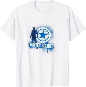 xCamiseta Manga Corta Falcon y el Soldado de Invierno Graffiti Winter Soldier