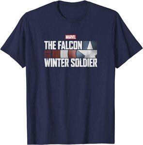 Camiseta Manga Corta Falcon y el Soldado de Invierno Logo Letras