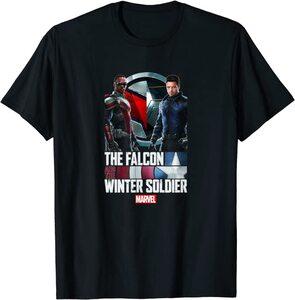 Camiseta Manga Corta Falcon y el Soldado de Invierno Logo Poster