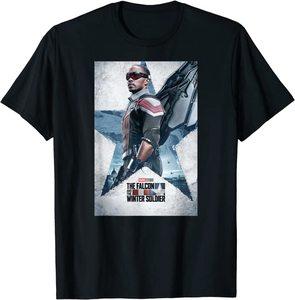 xCamiseta Manga Corta Falcon y el Soldado de Invierno Poster Falcon