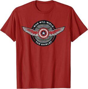 xCamiseta Manga Corta Falcon y el Soldado de Invierno Quien Portara el Escudo Alas Falcon