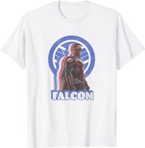 xCamiseta Manga Corta Falcon y el Soldado de Invierno Retro Falcon