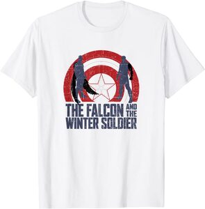 xCamiseta Manga Corta Falcon y el Soldado de Invierno Siluetas 2