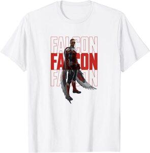 Camiseta Manga Corta Falcon y el Soldado de Invierno Texto Falcon