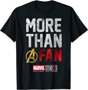 Camiseta Manga Corta Marvel More than A Fan