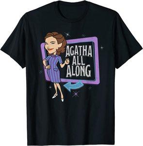 Camiseta Manga Corta Marvel Wandavision TV Agnes Agatha All Alone Retro Color
