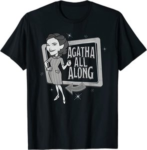 Camiseta Manga Corta Marvel Wandavision TV Agnes Agatha All Alone Retro