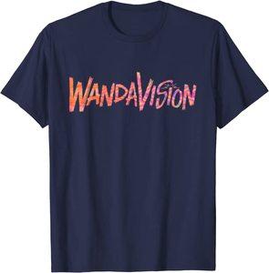 Camiseta Manga Corta Marvel Wandavision TV Logo Wandavision 90s