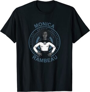 Camiseta Manga Corta Marvel Wandavision TV Monica Rambeau Medio Cuerpo
