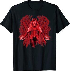 Camiseta Manga Corta Marvel Wandavision TV Scarlet Witch Bruja Escarlata Wanda Maximoff 2