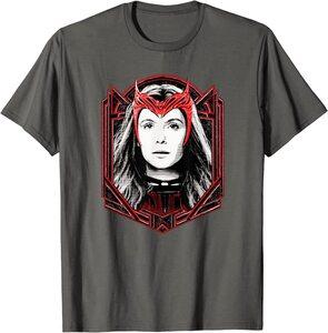 Camiseta Manga Corta Marvel Wandavision TV Scarlet Witch Bruja Escarlata Wanda Maximoff