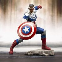 Figura japonesa Kotobukiya Capitan America Falcon