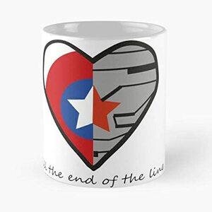 S6 Taza Corazon Capitan America y El Soldado de Invierno silueta
