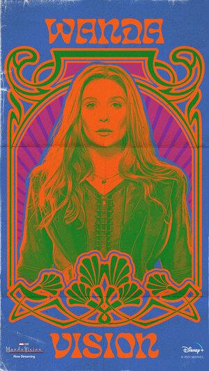 Wandavision poster 70s Wanda