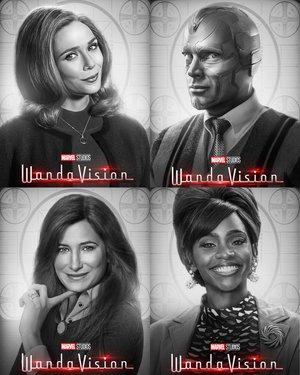 Wandavision poster Protagonistas