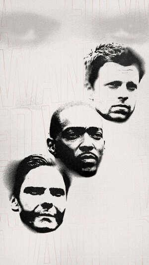 Falcon y el Soldado de Invierno Bucky, Sam y Zemo Grafitti