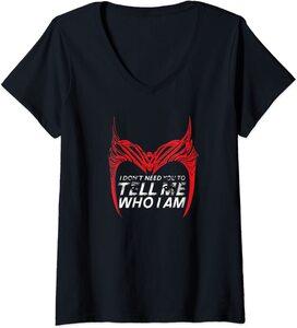 Camiseta Cuello V Marvel Wandavision Bruja Escarlata Frase