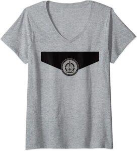 Camiseta Cuello V Marvel Wandavision Logo de SWORD en el Pecho Uniforme de SWORD Monica Rambeau