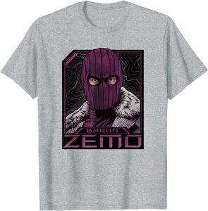 Camiseta Manga Corta Falcon y el Soldado de Invierno Baron Zemo Enmascarado