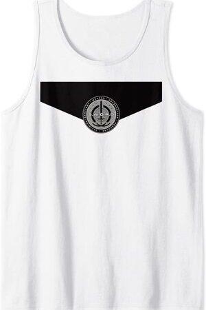 Camiseta sin Mangas Marvel Wandavision Logo de SWORD en el Pecho Uniforme de SWORD Monica Rambeau