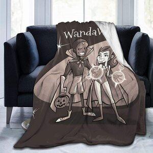 Manta Wandavision Vision y Wanda Halloween sofá