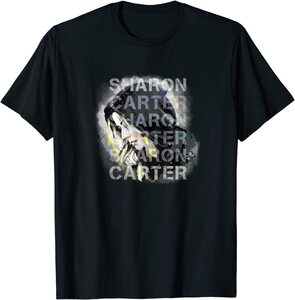 xCamiseta Manga Corta Falcon y el Soldado de Invierno Sharon Carter Texto