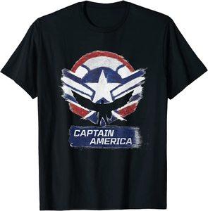 xCamiseta Manga Corta Falcon y el Soldado de Invierno el Nuevo Capitan América Efecto Tiza