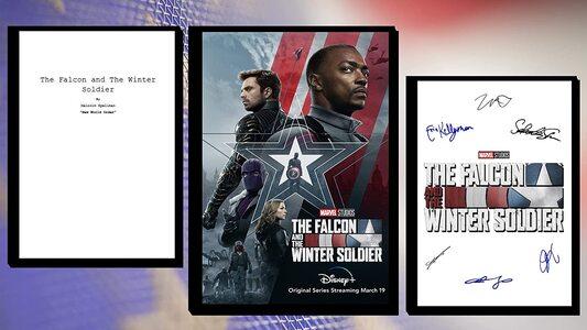 AA Falcon y el Soldado de Invierno - Poster y autografos firmados con guion