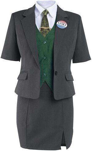 Adulto Disfraz de Loki Variante Presidente de Mujer