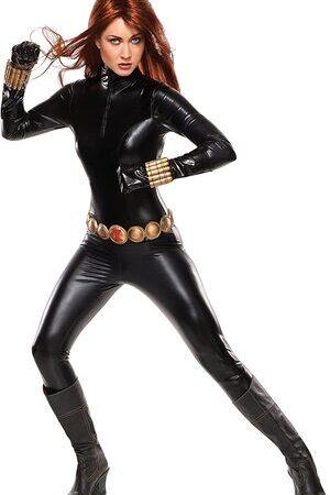 Adulto Disfraz de Viuda Negra de Lujo