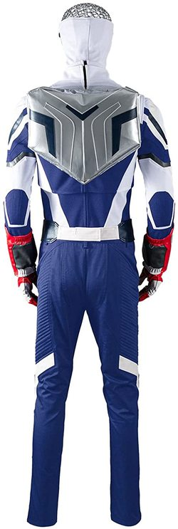 Adulto Disfraz del Capitán América de Sam Wilson de lujo Foto espalda