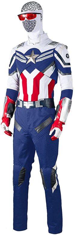 Adulto Disfraz del Capitán América de Sam Wilson de lujo