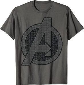 Camiseta Avengers Vengadores Endgame Logo con Iconos Heroes