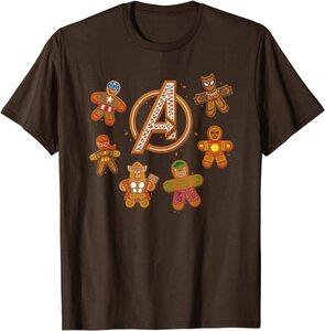 Camiseta Avengers Vengadores Galletas de Gengibre de Navidad