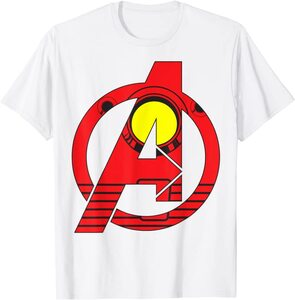 Camiseta Avengers Vengadores Logo estilo Ironman
