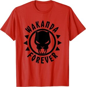 Camiseta Black Panther Wakanda Forever Icono Circular