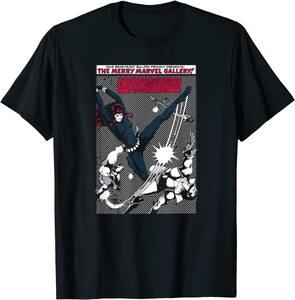 Camiseta Black Widow Comic Retro Merry Marvel