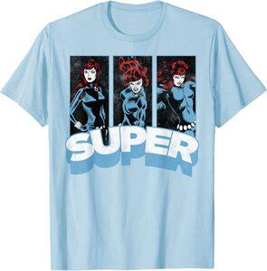 Camiseta Black Widow Comic Retro Super Vintage