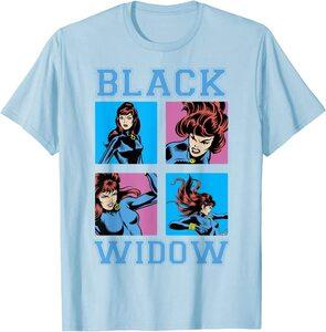 Camiseta Black Widow Comic Retro Viuda Negra en Acción